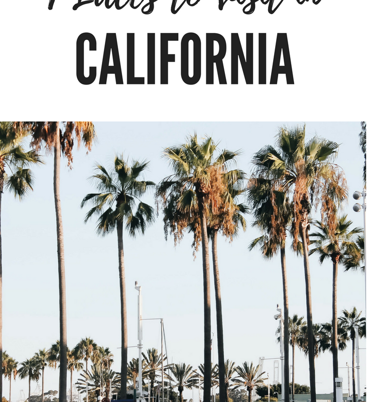 Places To visit in California.