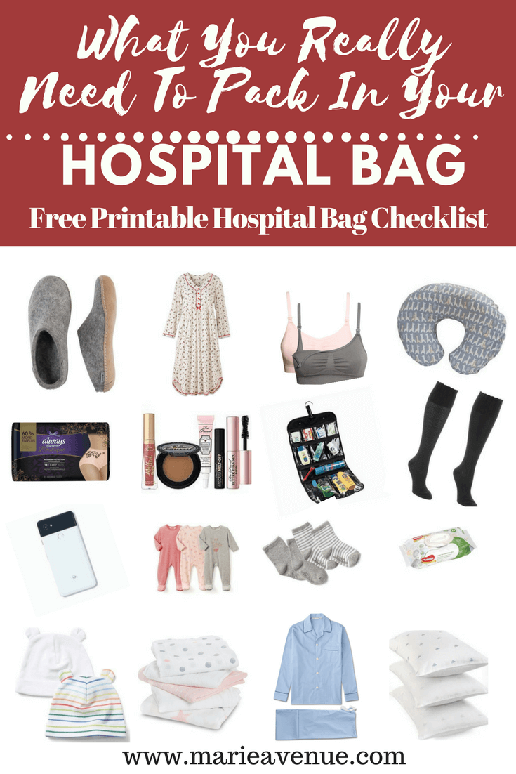 What To Pack In Your Hospital Bag Free