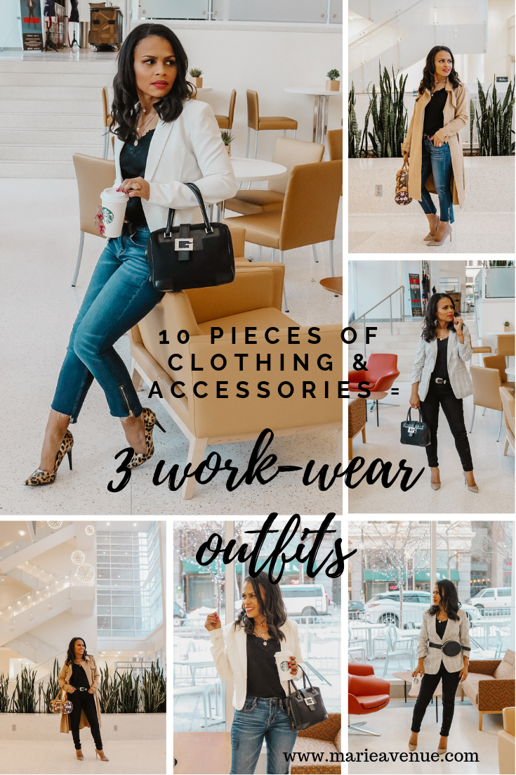 10 Pieces of Accessories and clothing // 3 Work-Wear Outfits
