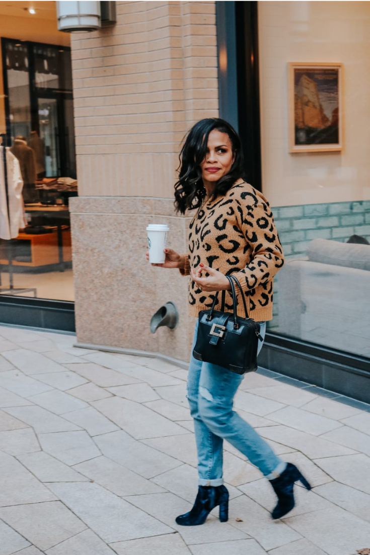 How to wear a Leopard Print Sweater