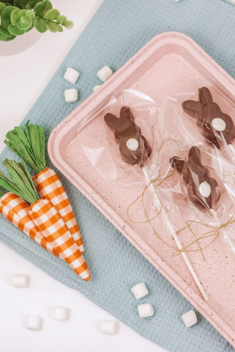 Chocolate Covered Marshmallow Peeps On A stick